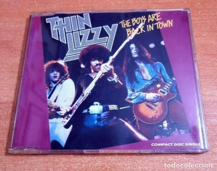 THIN LIZZY THE BOYS ARE BACK IN TOWN CD SINGLE PROMO 1991 ALEMANIA PHIL LYNOTT CONTIENE 4 TEMAS (Música - CD's Jazz, Blues, Soul y Gospel)
