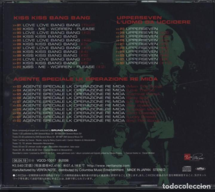 CDs de Música: THE SPY MOVIE COLLECTION: UPPERSEVEN, KISS KISS, AGENTE SPECIALE LK / Bruno Nicolai CD BSO - JAPAN - Foto 2 - 261145555