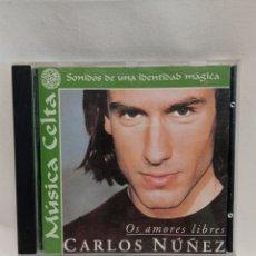 CDs de Música: CD CARLOS NÚÑEZ OS AMORES LIBRES. MÚSICA CELTA SONIDOS DE UNA IDENTIDAD MÁGICA. Lote 261212975