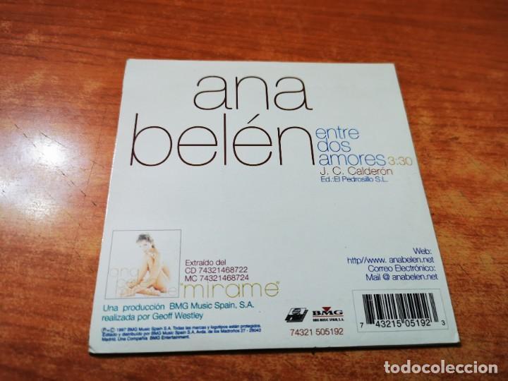 CDs de Música: ANA BELEN Entre dos amores CD SINGLE COMERCIAL CON PORTADA DE CARTON JUAN CARLOS CALDERON - Foto 2 - 261265745