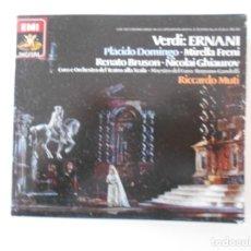 CDs de Música: VERDI: ERNANI. TRIPLE COMPACTO EMI. PLACIDO DOMINGO, RENATO BRUSON, NICOLAI GHIAUROV, MIRELLA FRENI.. Lote 261331275
