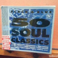 CDs de Musique: CD. BLACK AND BLUE. 50 SOUL CLASSICS.. Lote 261338450