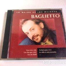 CDs de Música: BAGLIETTO CD LO MEJOR DE LOS MEJORES 1995 EMI. Lote 261412375