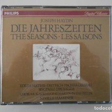 CDs de Música: JOSEPH HAYDN. DIE JAHRESZEITEN. THE SEASONS. LES SAISONS. DOBLE COMPACTO PHILIPS. EDITH MATHIS. DIET. Lote 261549625