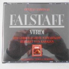 CDs de Música: FALSTAFF. GIUSEPPE VERDI. OPERAS FAMOSAS. DOBLE COMPACTO EMI. TITO GOBBI. LUIGI ALVA. ROLANDO PANERA. Lote 261557380