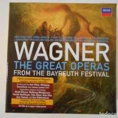 CDs de Música: WAGNER. THE GREAT OPERAS FROM THE BAYREUTH FESTIVAL. CAJA DECCA CON 33 COMPACTOS. DER FLIEGENDE HOLL. Lote 261626255
