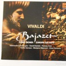 CDs de Música: VIVALDI. BAJAZET. DOBLE COMPACTO VIRGIN CLASSICS. LIDEBRANDO D'ARCANGELO. DAVID DANIELS. PATRIZIA CI. Lote 261626940
