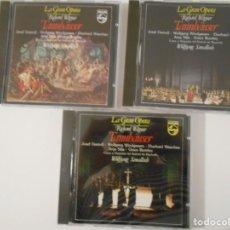CDs de Música: TANNHÄUSER. RICHARD WAGNER. TRIPLE COMPACTO PHILIPS. JOSEF GREINDL, WOLFGANG WINDGASSEN, EBERHARD WA. Lote 261691535