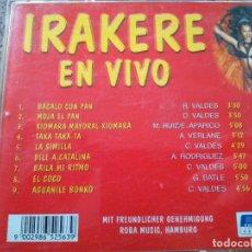 CDs de Musique: CD -- IRAKERE EN VIVO -- PURE SOUNDS FROM CUBA -- 9 TEMAS --. Lote 261826840