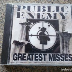 CDs de Música: CD -- PUBLIC ENEMY -- GREATEST MISSES -- 1992 --. Lote 261827920