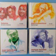 CDs de Música: KETAMA:DE AKÍ A KETAMA-MANOLO SANLÚCAR:TAUROLOGÍA-ENRIQUE MORENTE:NEGRA SI TU SUPIERAS- HABICHUELA. Lote 261851680