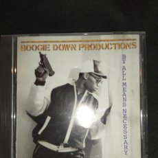CDs de Música: BOOGIE DOWN PRODUCTIONS - BY ALL MEANS NECESSARY CD RAP HIP HOP. Lote 261869805