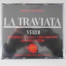 CDs de Música: LA TRAVIATA. GIUSEPPE VERDI. DOBLE COMPACTO RCA VICTOR. MONTSERRAT CABALLE, CARLO BERGONZI... GEORGE. Lote 261912725