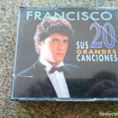 CDs de Música: DOBLE CD -- FRANCISCO SUS 20 GRANDES CANCIONES --. Lote 261915720