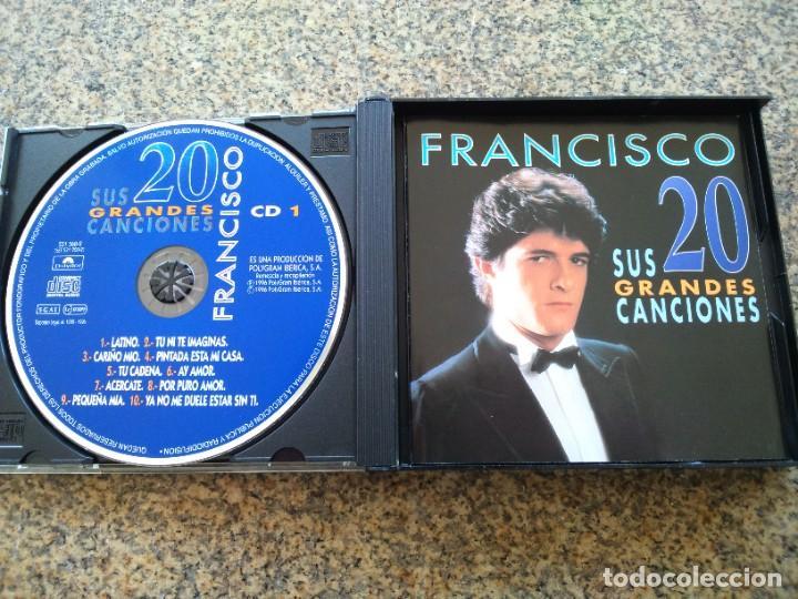 CDs de Música: DOBLE CD -- FRANCISCO SUS 20 GRANDES CANCIONES -- - Foto 3 - 261915720