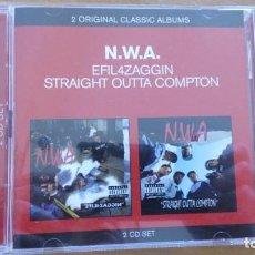 CDs de Música: N.W.A. EFIL4ZAGGIN / STRAIGH OUTTA COMPTON 2XCDS EN UN SET. Lote 261937975
