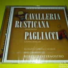 CDs de Música: CAVALLERIA RUSTICANA MASCAGNI +PAGLIACCI LEON CAVALLO ( CD NUEVO PRECINTADO ) OPERA. Lote 261988240