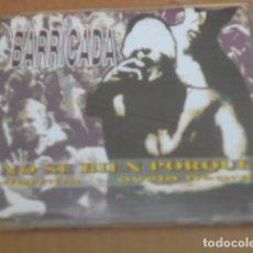 CDs de Música: BARRICADA-NO SE BIEN PORQUE-CD SINGLE. Lote 261989505