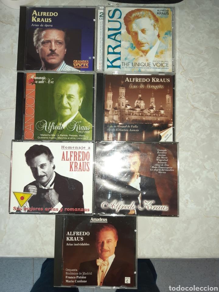 7 CDS ALFREDO KRAUS 3 DE ELLOS DOBLES (Música - CD's Clásica, Ópera, Zarzuela y Marchas)