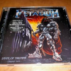 CDs de Música: METALIUM CD STATE..2000-HELICON-AT VANCE-IRON MAIDEN-RHAPSODY-HELLOWEEN-EDGUY (COMPRA MINIMA 15 EUR). Lote 262078185