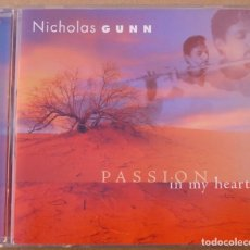 CDs de Música: NICHOLAS GUNN - PASSION IN MY HEART (CD) 1998 - USA - 10 TEMAS. Lote 262133155