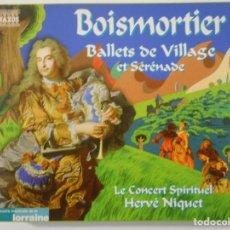CDs de Música: BOISMORTIER. BALLET DE VILLAGE ET SERENADE. LE CONCERT SPIRITUEL. HERVE NIQUET. COMPACTO NAXOS.. Lote 262133450