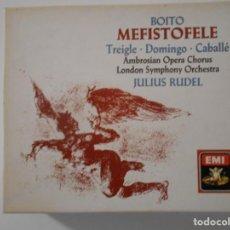 CDs de Música: BOITO. MEFISTOFELE. DOBLE COMPACTO EMI. NORMAN TREIGLE, PLACIDO DOMINGO, MONTSERRAT CABALLÉ, JOSELLA. Lote 262133650