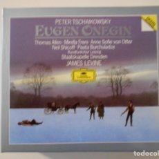 CDs de Música: EUGEN ONEGIN. PETER TSCHAIKOWSKY. DOBLE COMPACTO DEUTSCHE GRAMMOPHON. THOMAS ALLEN MIRELLA FRENI. A. Lote 262134070