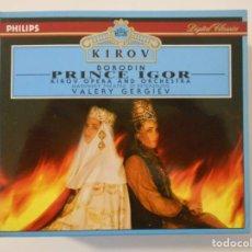 CDs de Música: PRINCE IGOR. BORODIN. TRIPLE COMPACTO PHILIPS. MIKHAIL KIT, GALINA GORCHAKOVA, GEGAM GRIGORIAN... VA. Lote 262134600