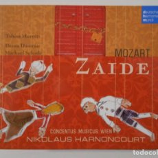 CDs de Música: ZAIDE. MOZART. DOBLE COMPACTO DEUTSCHE HARMONIA MUNDI. DIANA DAMRAU, MICHAEL SCHADE... TOBIAS MORETT. Lote 262134855