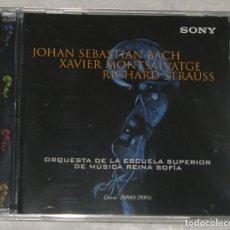 CDs de Música: JOHAN SEBASTIAN BACH - XAVIER MONTSALVATGE - RICHARD STRAUSS. Lote 262135405