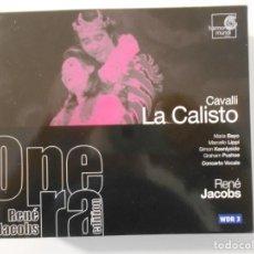 CDs de Música: CAVALLI: LA CALISTO. TRIPLE COMPACTO HARMONIA MUNDI. MARIA BAYO, MARCELLO LIPPI, SIMON KEENLYDIDE.... Lote 262135510