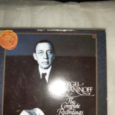 CDs de Música: CD SERGEI RACHMANINOF THE COMPLETE RECORDINGS. Lote 262135520