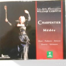 CDs de Música: CHARPENTIER. MÉDÉE. TRIPLE COMPACTO ERATO. LORRAINE HUNT, MARK PADMORE, BERNARD DELETRÉ, MONIQUE ZAN. Lote 262135695