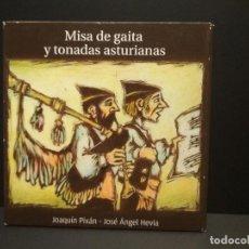 CDs de Música: MISA DE GAITA Y TONADAS ASTURIANAS ASTURIAS JOAQUIN PIXAN Y JOSE ANGEL HEVIA CD ALBUM 2013 PEPETO. Lote 262137875