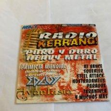 CDs de Música: CD DE LA REVISTA HEAVY ROCK 2002 - RADIO KERRANG - PURO HEAVY METAL. Lote 262275255
