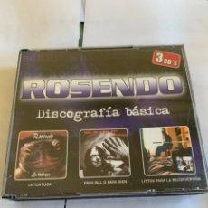 CDs de Música: ROSENDO - DISCOGRAFÍA BÁSICA - TRIPLE CD - LA TORTUGA / PARA MAL O PARA BIEN / LISTOS PARA LA RECON. Lote 262278255
