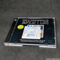 CDs de Música: LED ZEPPELIN - THE SOUNDTRACK FROM THE FILM THE SONG REMAINS THE SAME - CD DOBLE - 1976. Lote 262326450