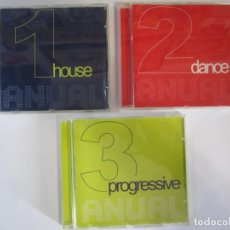 CDs de Música: LOTE 3 CDS ANUAL HOUSE DANCE PROGRESIVE. Lote 262511940