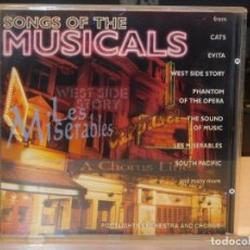CDs de Música: CD *SONGS OF THE MUSICALS* CATS, EVITA, CABARET, LES MISERABLES...* MUSIC COLLECTION INTERN. 1995. Lote 262597185