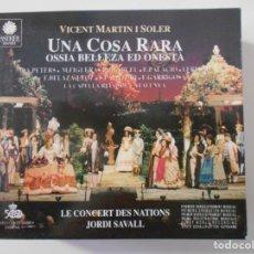 CD di Musica: UNA COSA RARA. OSSIA BELLEZA ED ONESTA. VICENT MARTIN I SOLER. LES CONCERT DES NATIONS. TRIPLE COMPA. Lote 262635800