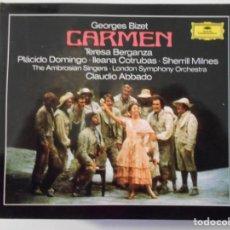 CDs de Música: CARMEN. BIZET. TRIPLE COMPACTO DEUTSCHE GRAMMOPHON. TERESA BERGANZA, PLACIDO DOMINGO, ILEANA COTRUBA. Lote 262638095