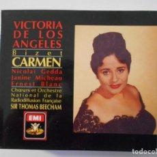 CDs de Música: CARMEN. BIZET. TRIPLE COMPACTO EMI. VICTORIA DE LOS ANGELES. NICOLAÏ GEDDA. JANINE MICHEAU. ERNEST B. Lote 262638325