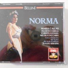 CDs de Música: NORMA. BELLINI. TRIPLE COMPACTO EMI. MARIA CALLAS, FRANCO CORELLI, CHRISTA LUDWING, NICOLA ZACCARIA.. Lote 262678470