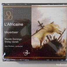 CDs de Música: L'AFRICAINE. MEYERBEER. TRIPLE COMPACTO OPERA D'ORO. PLACIDO DOMINGO, SHIRLEY VERRET, EVELYN MANDAC.. Lote 262683720