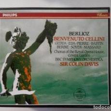 CDs de Música: BENVENUTO CELLINI. BERLIOZ. TRIPLE COMPACTO PHILIPS. NICOLAI GEDDA, JULES BASTIN, ROBERT MASSARD, RO. Lote 262688615