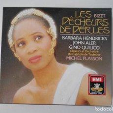 CDs de Música: LES PÊCHEURS DE PERLES. BIZET. DOBLE COMPACTO EMI. BARBARA HENDRICKS. JOHN ALER. GINO QUILICO. MICHE. Lote 262735130