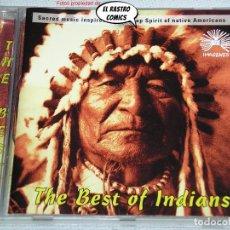 CDs de Música: INDIANS, THE BEST OF, MÚSICA SACRA DE LOS INDIOS NATIVOS AMERICANOS, CD. Lote 262799390