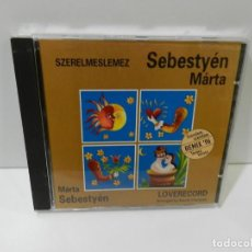 CDs de Música: DISCO CD. SEBESTYÉN MÁRTA – SZERELMESLEMEZ = LOVERECORD. COMPACT DISC.. Lote 262833255