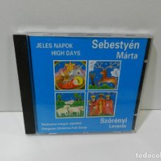 CDs de Música: DISCO CD. SEBESTYÉN MÁRTA – JELES NAPOK = HIGH DAYS. COMPACT DISC.. Lote 262833515